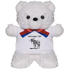 Custom Donkey Sketch Teddy Bear