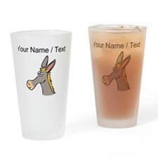 Custom Cartoon Mule Drinking Glass