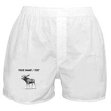 Custom Moose Sketch Boxer Shorts