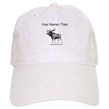Custom Moose Sketch Baseball Baseball Cap