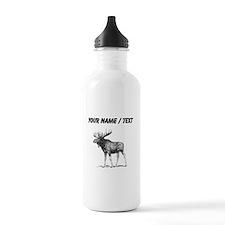 Custom Moose Sketch Water Bottle