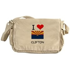 I Love Clifton Arizona Messenger Bag