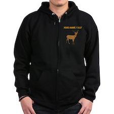 Custom Brown Deer Zip Hoodie