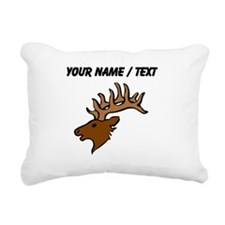Custom Reindeer Head Rectangular Canvas Pillow