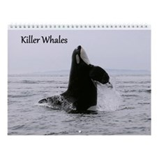 Cute Save whales Wall Calendar