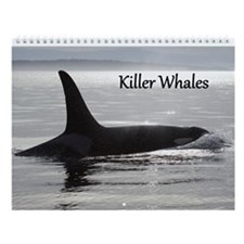Unique White whale Wall Calendar