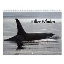 Cute White whale Wall Calendar