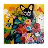 "Tile Coaster: ""Flower Cats"" by Matar"