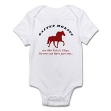 Gaited Horses are like Potato Infant Bodysuit