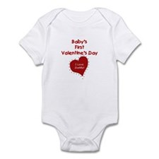 1st Valentine's I Love Daddy Infant Creeper