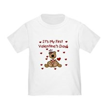First Valentine's Boy Bear T