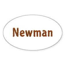 Newman Fall Leaves Oval Decal