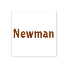 Newman Fall Leaves Square Sticker