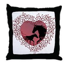 MareNFoal Heart Throw Pillow