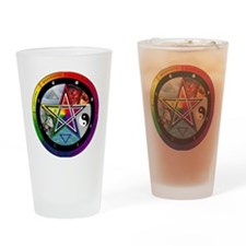 Pentacle Wheel of the Year Drinking Glass