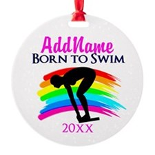 SWIMMING WINNER Ornament