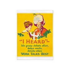Gossip, Work Incentive, Vintage Poster 5'x7'Area R