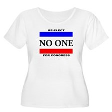 Re-elect No One For Congress Plus Size T-Shirt