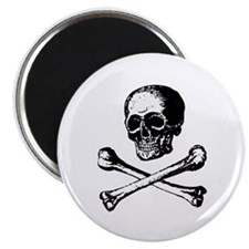 "Skull and Crossbones 2.25"" Magnet (100 pack)"