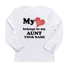 My Heart Belongs To My Aunt (Custom) Long Sleeve T