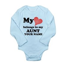 My Heart Belongs To My Aunt (Custom) Body Suit