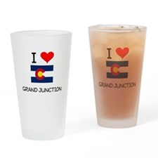 I Love Grand Junction Colorado Drinking Glass