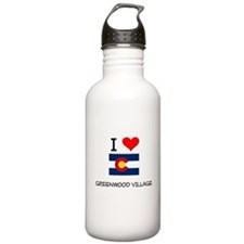 I Love Greenwood Village Colorado Water Bottle