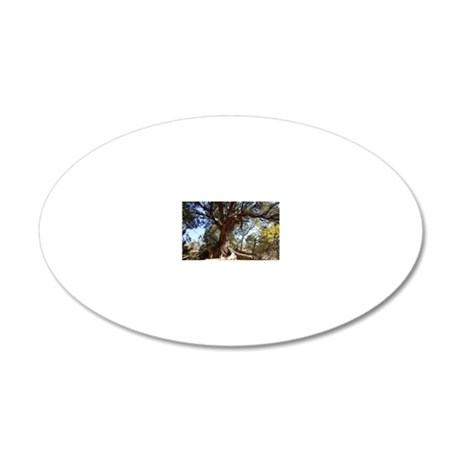 Twisted Tree 20x12 Oval Wall Decal