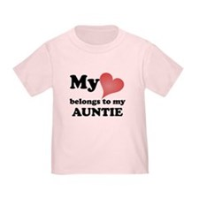 My Heart Belongs To My Auntie T-Shirt