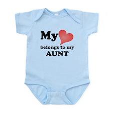 My Heart Belongs To My Aunt Body Suit