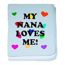My Nana Loves Me baby blanket