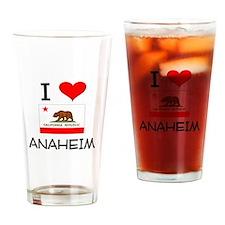 I Love Anaheim California Drinking Glass