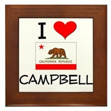 I Love Campbell California Framed Tile