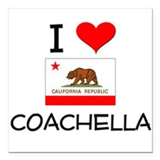 "I Love Coachella California Square Car Magnet 3"" x"