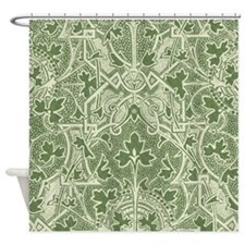 Elegant Antique Damask Panel Shower Curtain