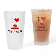I Love Costa Mesa California Drinking Glass