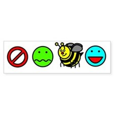 Dont Worry Bee Happy Bumper Bumper Sticker