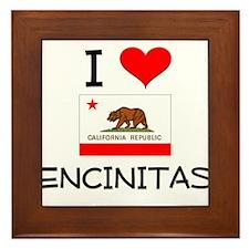 I Love Encinitas California Framed Tile