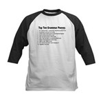 Grammar Peeves Kids Baseball Jersey