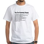 Grammar Peeves White T-Shirt