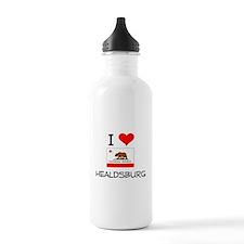 I Love Healdsburg California Water Bottle