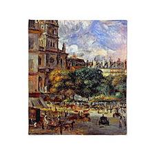 Renoir - Church of the Holy Trinity  Throw Blanket