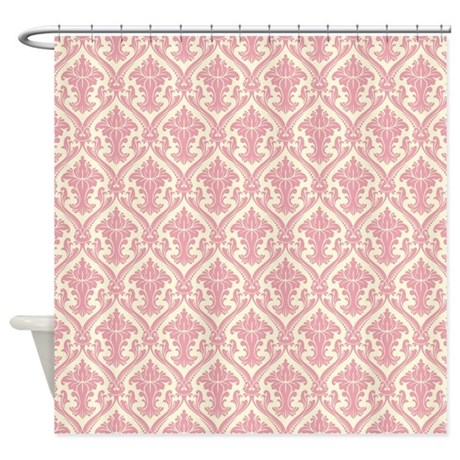 Fancy Pink Pattern Shower Curtain by ColorfulPatterns