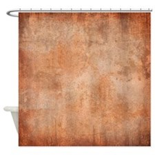 Brown Watercolor Shower Curtain