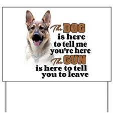 Beware of Dog/Gun (German Shepherd) Yard Sign