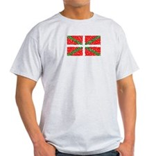 Basque Flag Pointillized Ash Grey T-Shirt