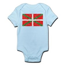 Basque Flag Pointillized Infant Creeper