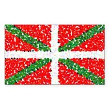 Basque Flag Pointillized Rectangle Decal