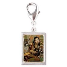 Egyptian  Silver Portrait Charm