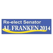 Reelect Senator Al Franken 2014 Bumper Bumper Sticker